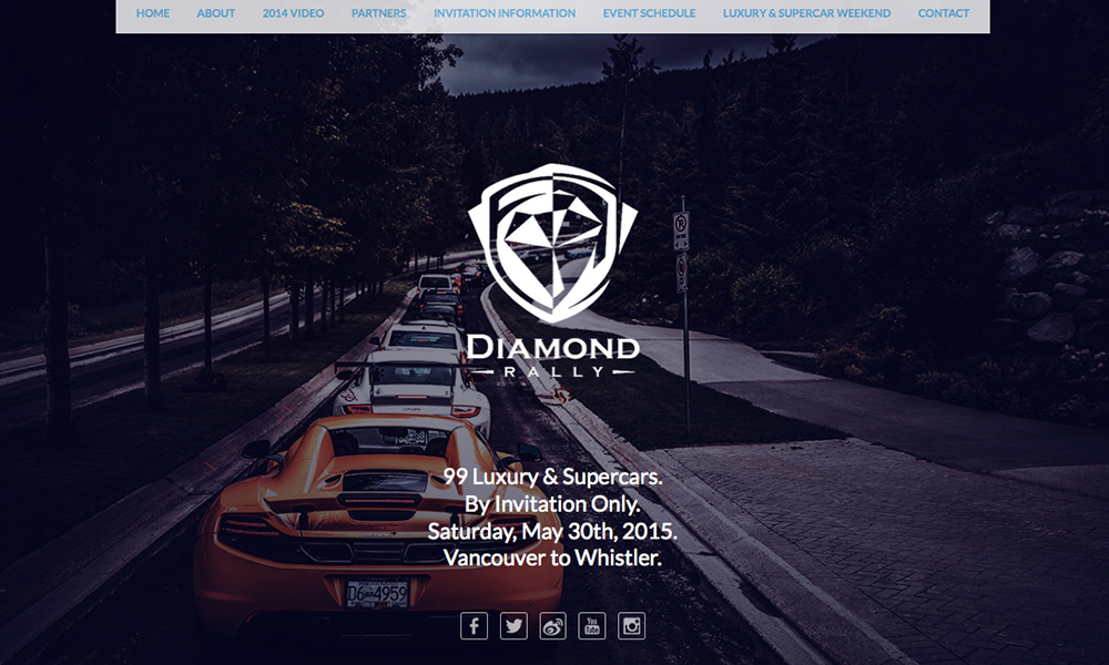 Diamond Rally web design advertisement design print